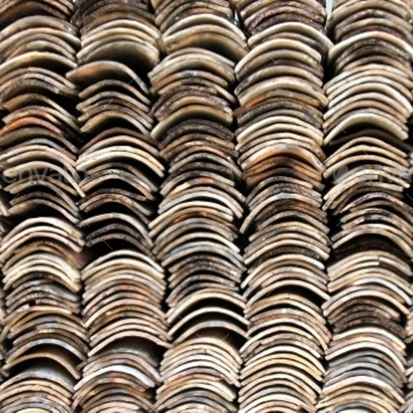 Stack of Roofing Tiles Texture
