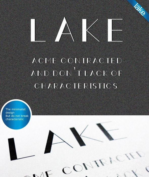 Lake Font - Sans-Serif Fonts