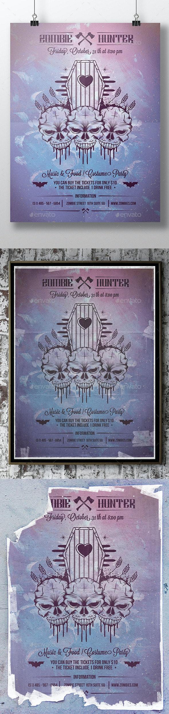 Halloween Skull Poster Flyer - Concerts Events