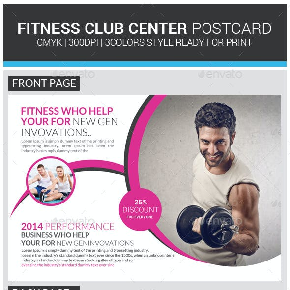 Fitness Postcard Psd Template