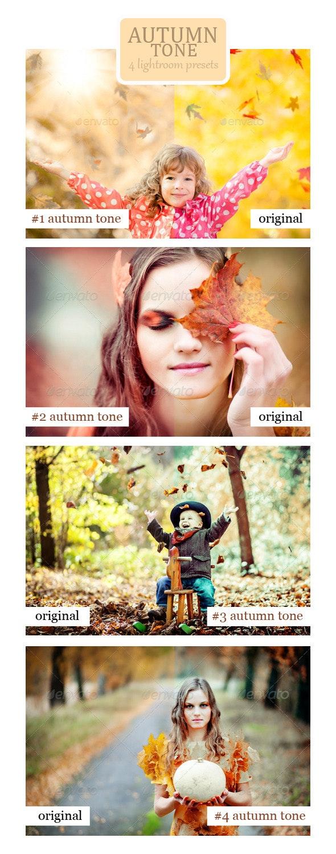 Autumn Tone - 4 Lightroom Presets - Portrait Lightroom Presets