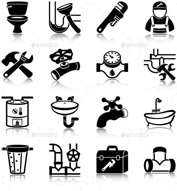 Plumbing - Miscellaneous Icons