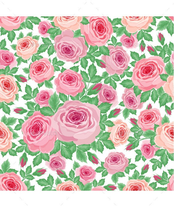 Pattern of Roses - Patterns Decorative