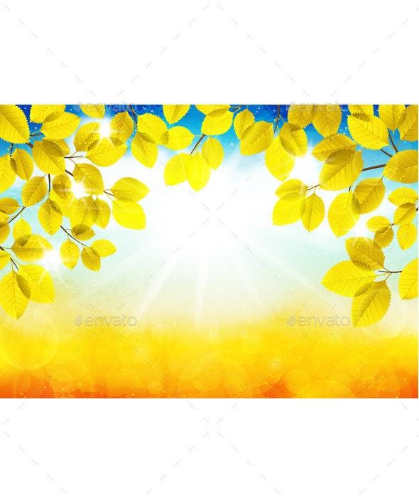 Sunny Autumn Landscape - Landscapes Nature