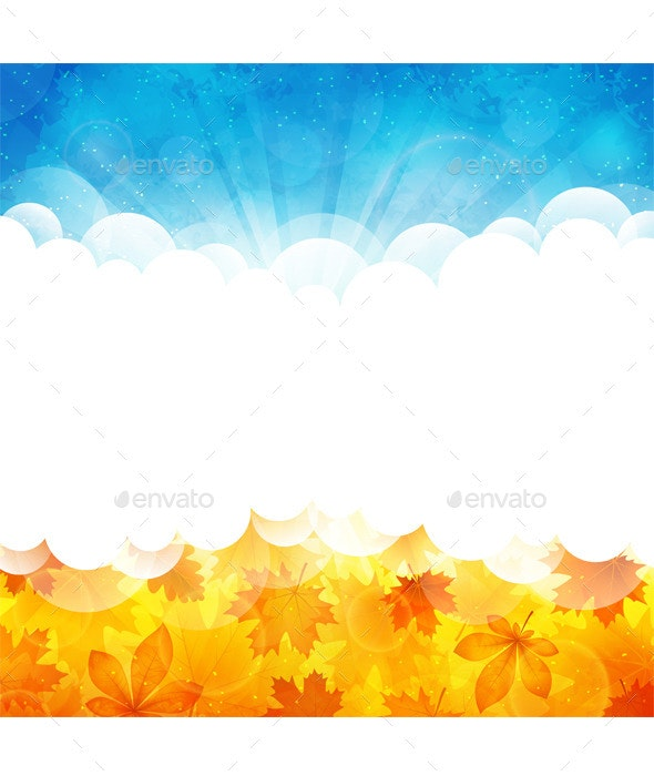 Sunny Background with Leaves - Nature Conceptual