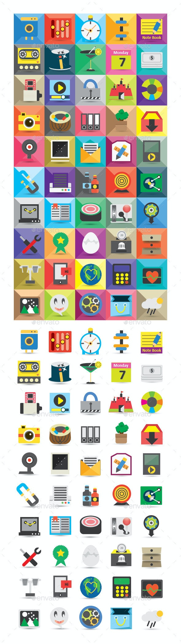 Modern Icons Set - Web Icons