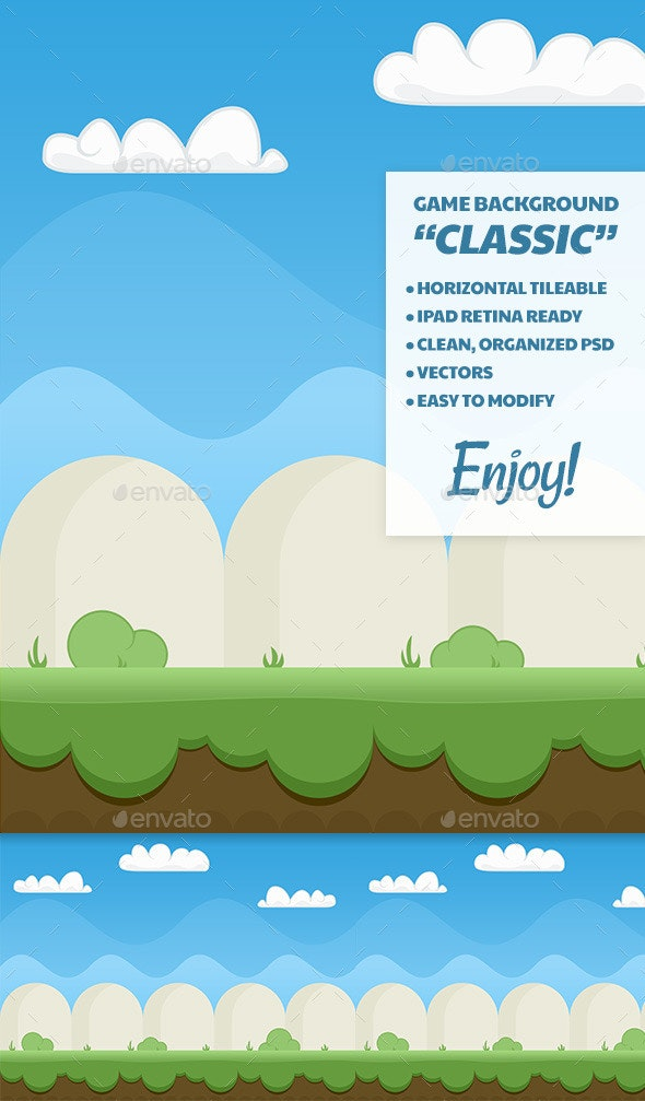 Classic Game Background - Backgrounds Game Assets