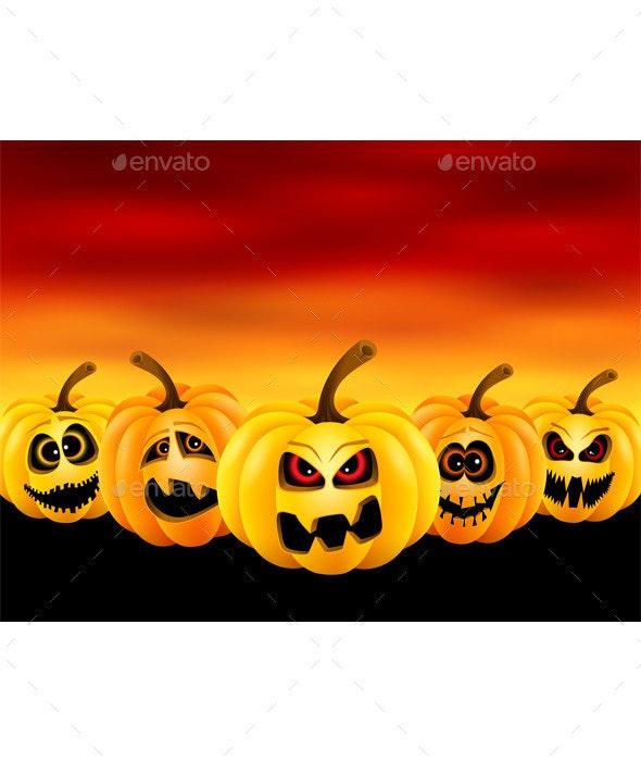 Pumpkins for Halloween - Halloween Seasons/Holidays