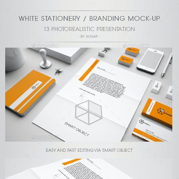 White Stationery / Branding Mock Up