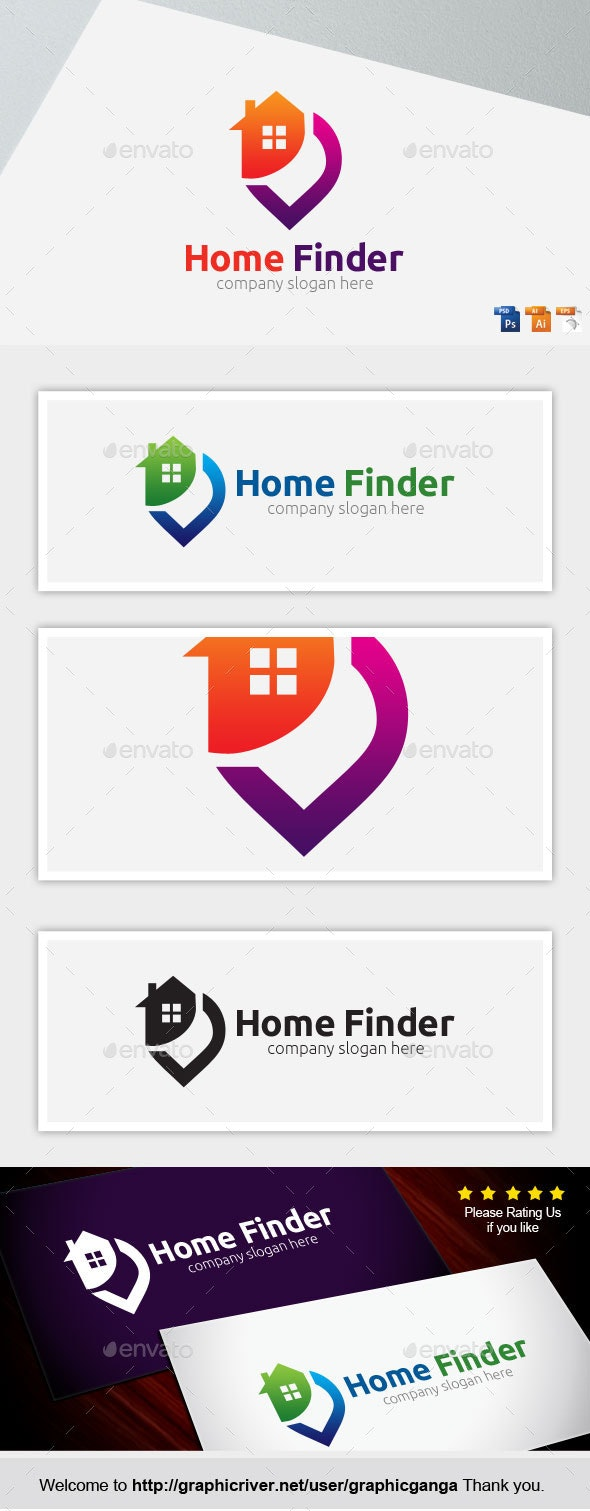 Home Finder - Buildings Logo Templates