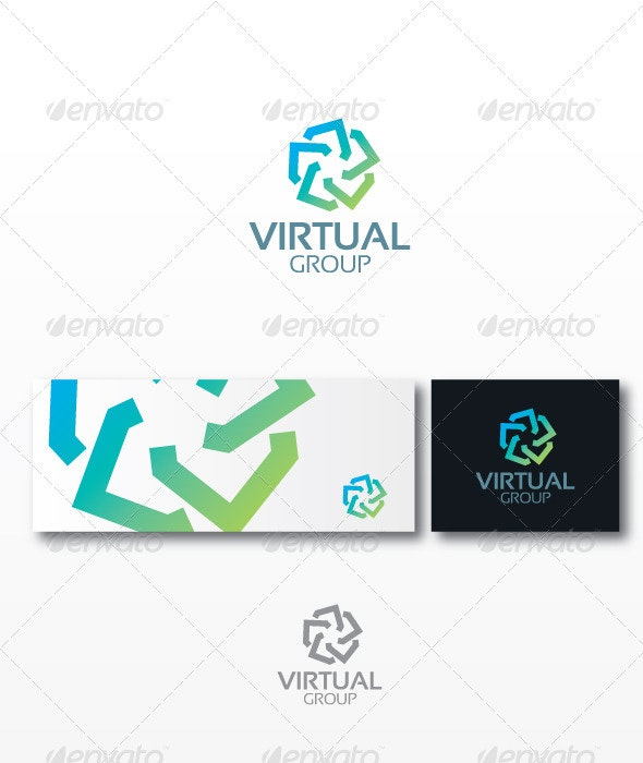 Virtual Group - Humans Logo Templates