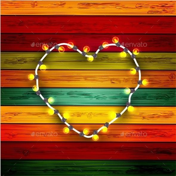 Modern Garland Heart - Valentines Seasons/Holidays