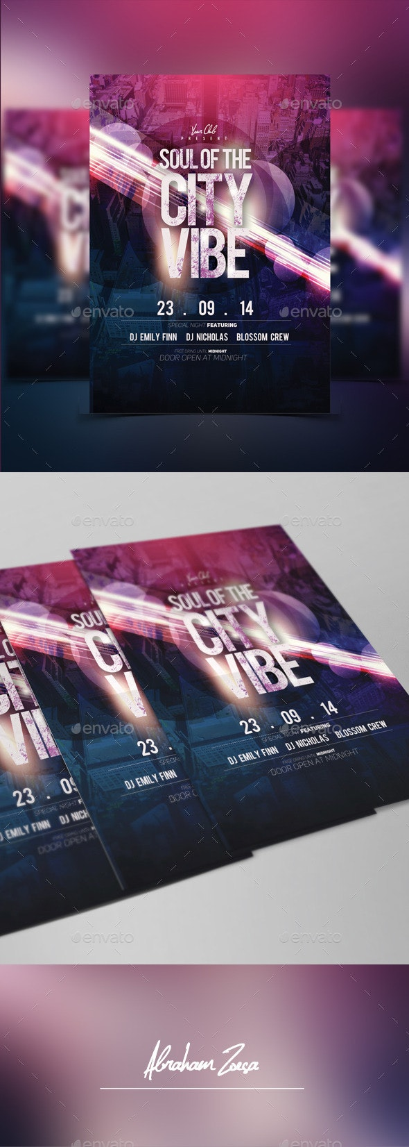 Soul of The City Vibe - Flyers Print Templates