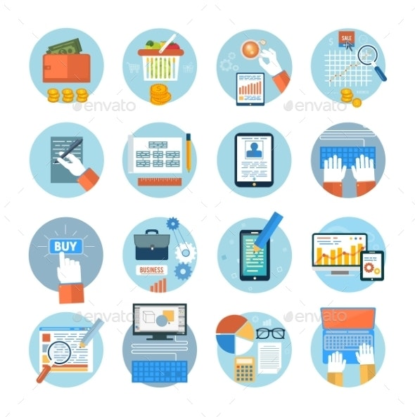 Office and Marketing Icons - Concepts Business