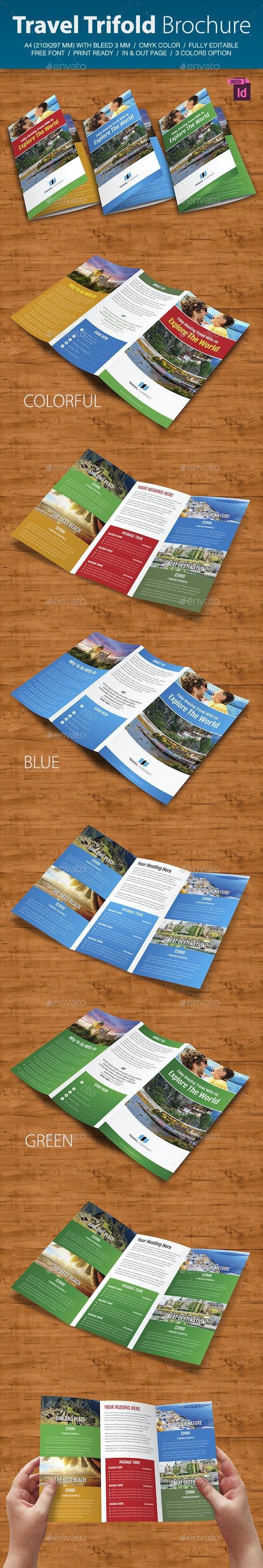 Travel Trifold Brochure V.2 - Brochures Print Templates