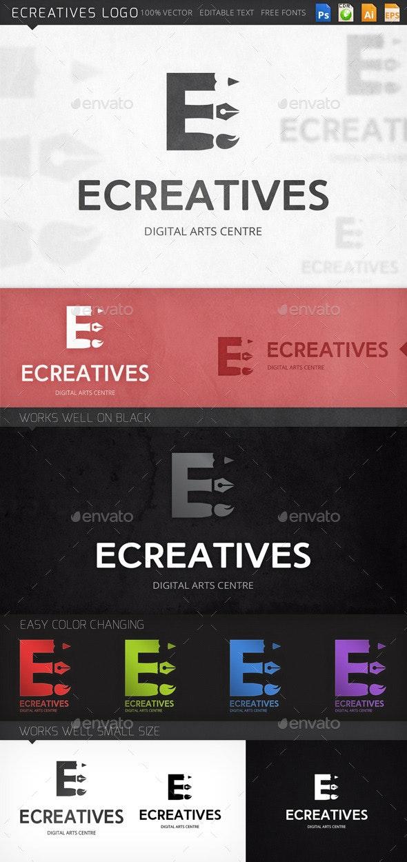 Ecreatives Letter E Logo Template - Letters Logo Templates