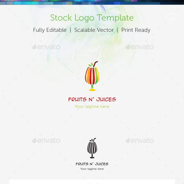 Fruit n' Juices Stock Logo Template