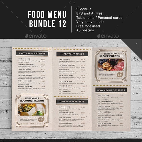 Food Menu Bundle 12