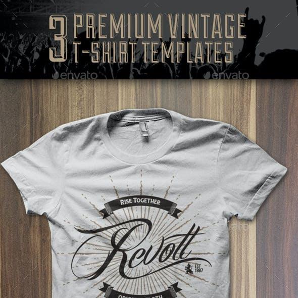 3 Premium T-Shirt Template