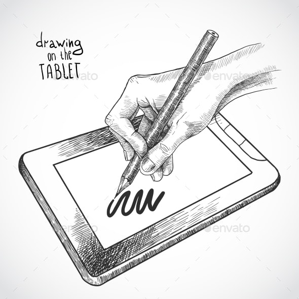 Hand Drawing on the Tablet - Miscellaneous Conceptual
