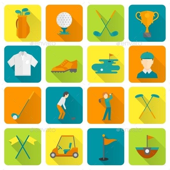 Golf Icons Set - Technology Icons