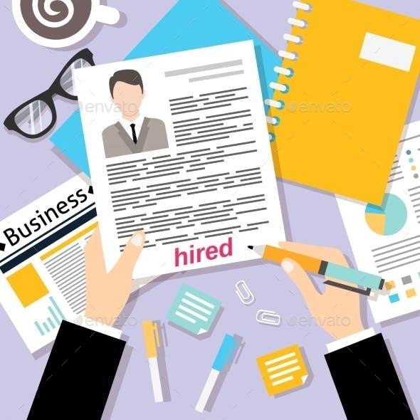 Business CV Background