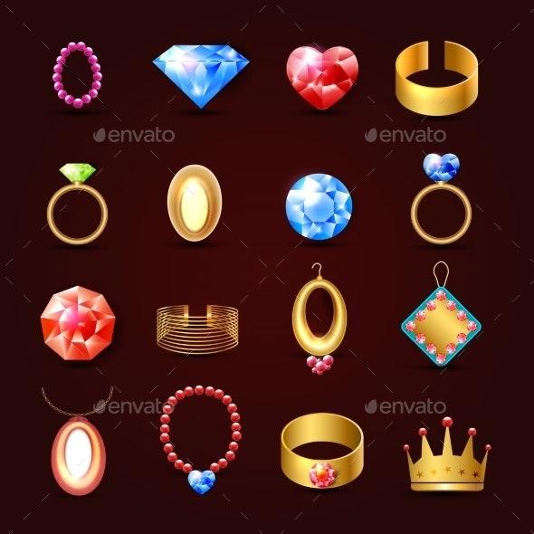 Jewelry Icon Set - Web Technology