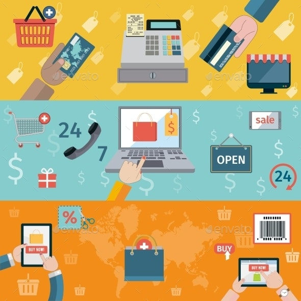 T-Commerce Banner Flat - Retail Commercial / Shopping