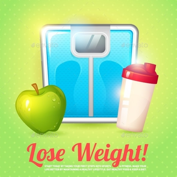 Weight Poster Diet - Sports/Activity Conceptual