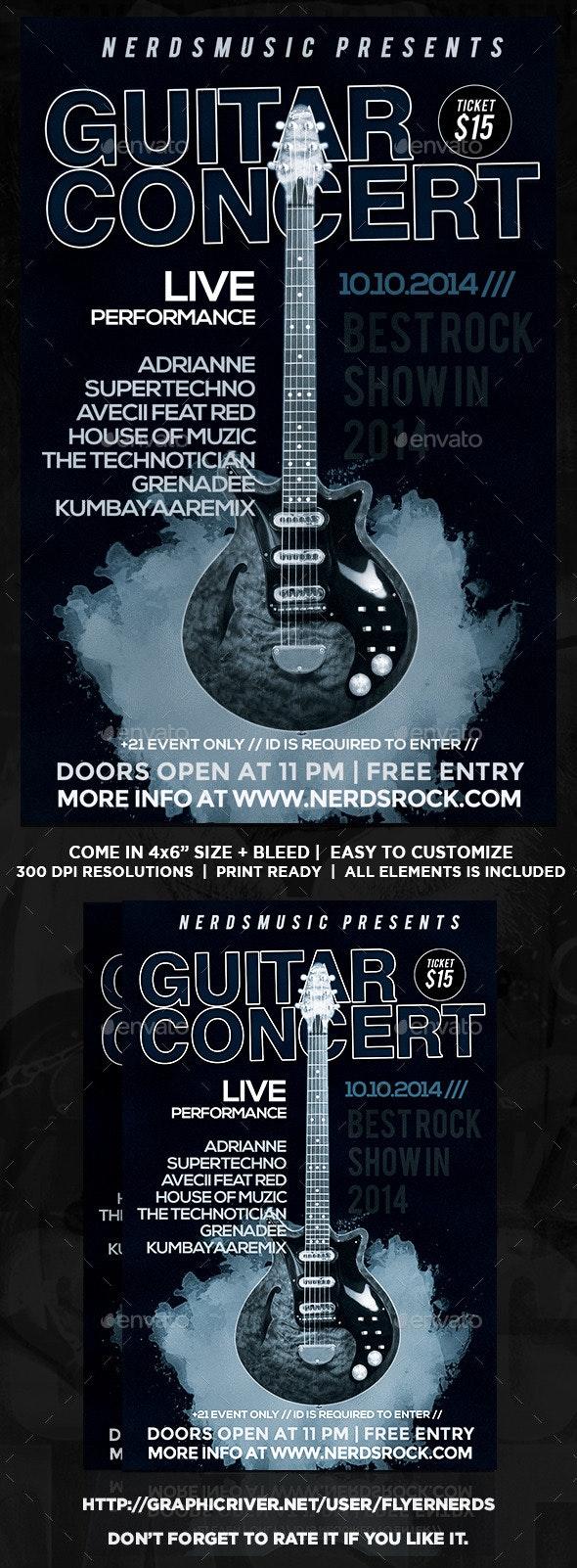 Guitar Concert Flyer - Concerts Events