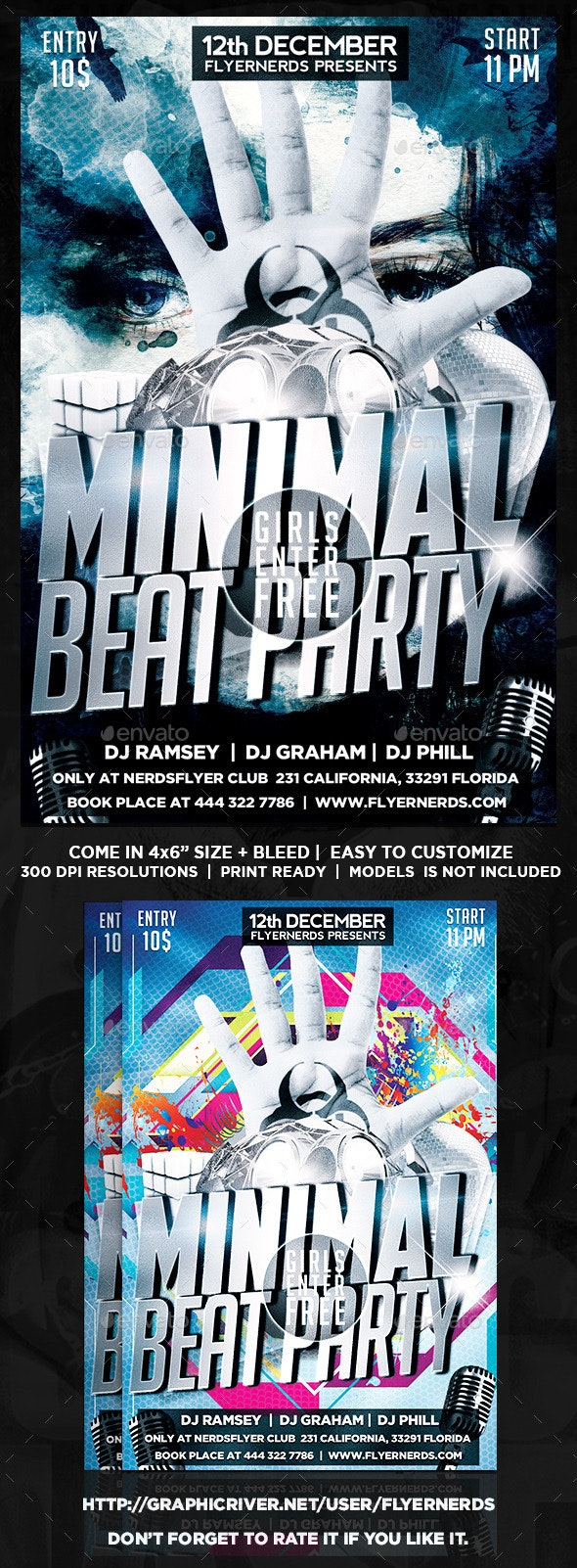 Minimal Beat Party Flyer - Clubs & Parties Events