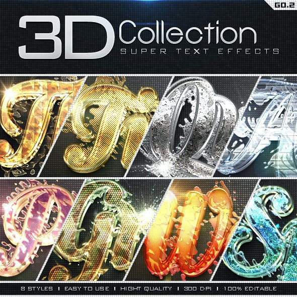 Super 3D Collection Text Effects GO.2