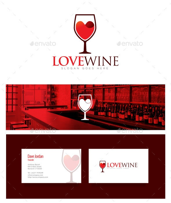 Love Wine - Wine Logo - Food Logo Templates