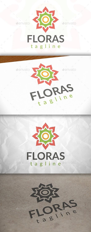 Love Flower Logo - Vector Abstract