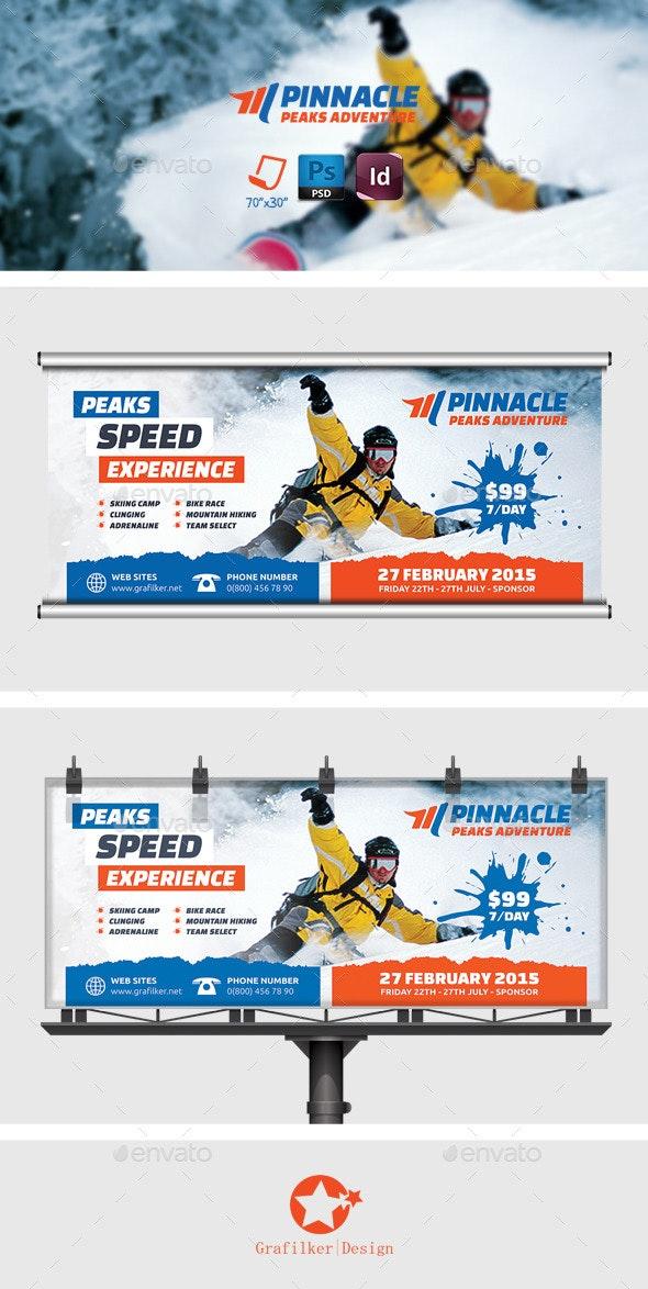 Adventure Billboard Templates - Signage Print Templates