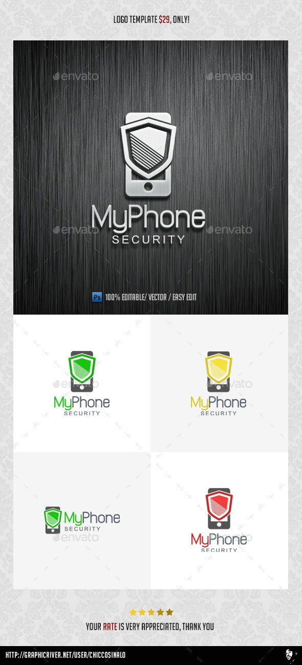 My Phone Security Logo Template - Abstract Logo Templates