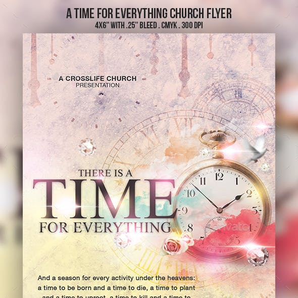 A Time for Everything Church Flyer