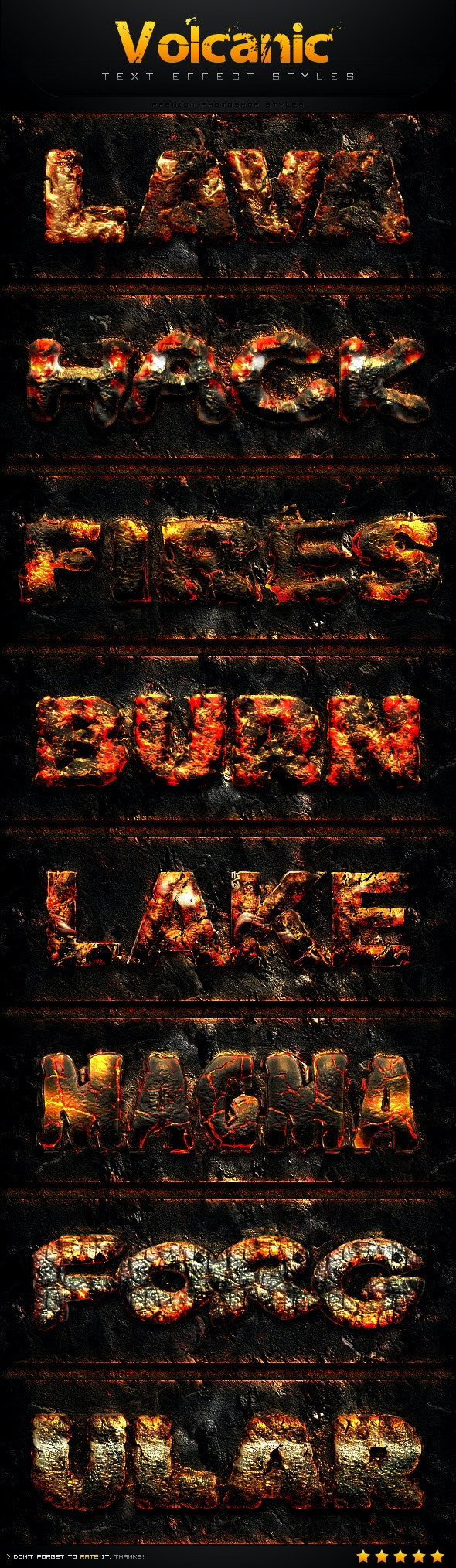 Volcanic Text Effect Styles - Text Effects Styles