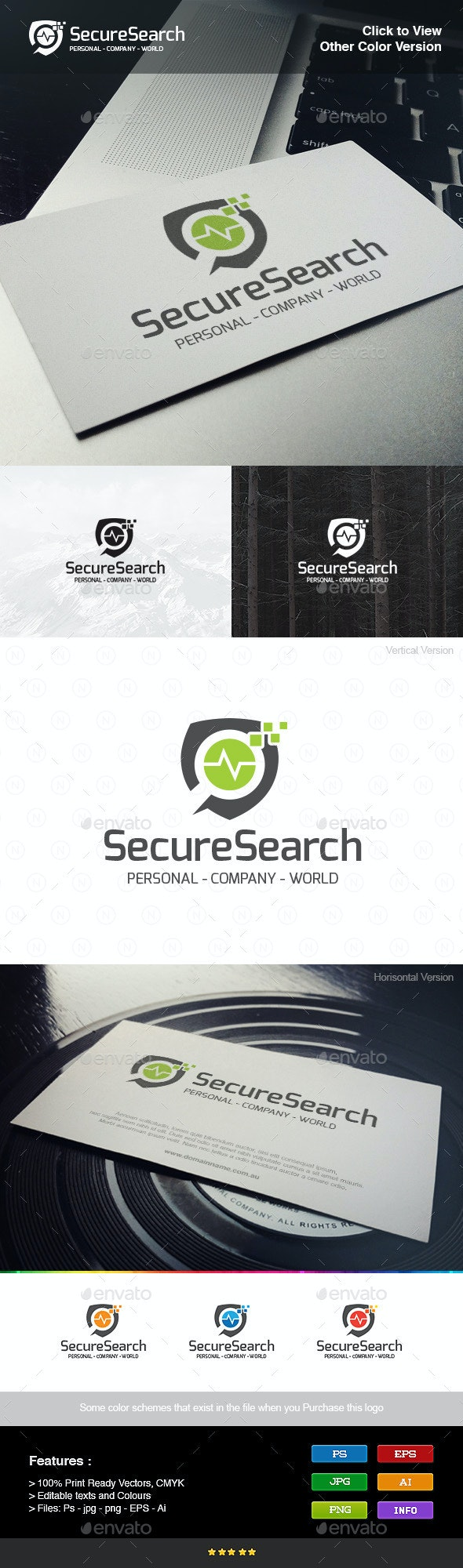 Secure Search - Objects Logo Templates