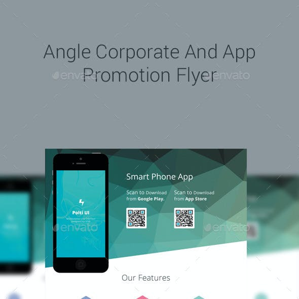 Angle Modern Corporate And App Promotion Business Flyers