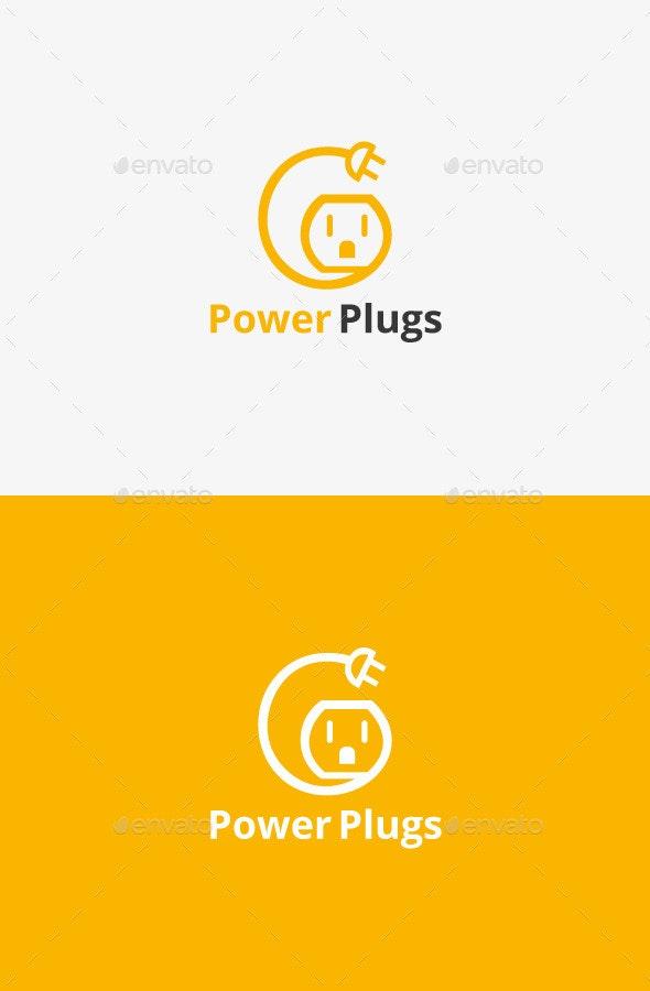 Electric Plug Logo - Symbols Logo Templates