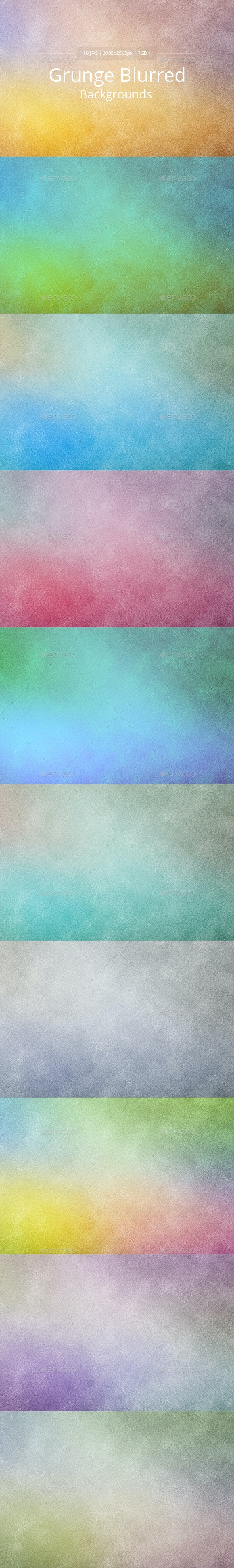 10 Grunge Blurred Backgrounds - Miscellaneous Backgrounds