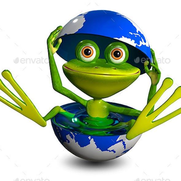 Frog in a Globe