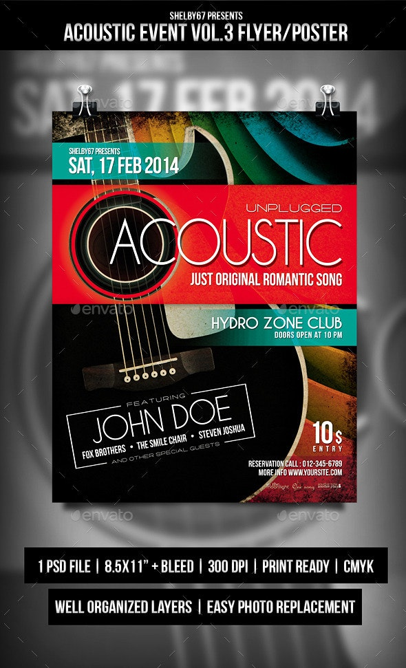 Acoustic Event Flyer / Poster Vol.3 - Events Flyers