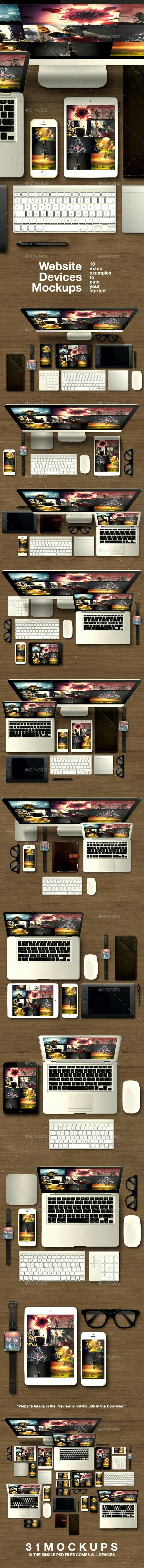 Website Devices Mockups - Website Displays