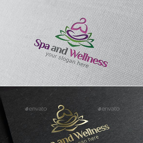 Spa and Wellness Logo Template