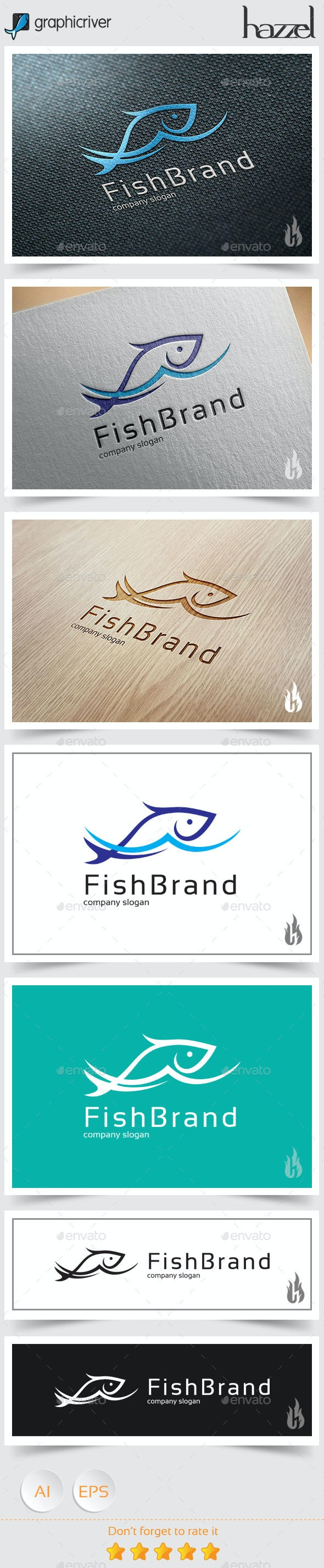 Fish Brand Logo - Animals Logo Templates