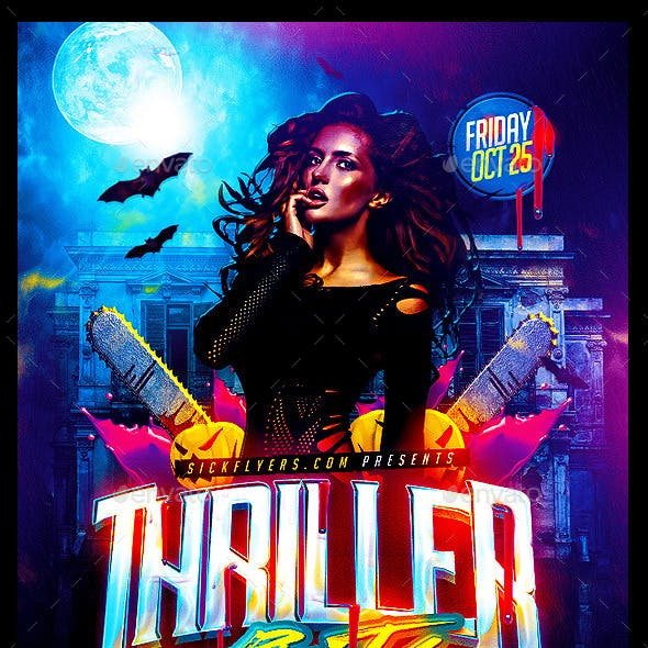 Thriller Halloween Party Flyer
