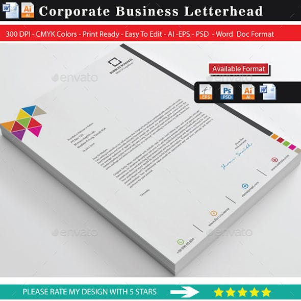 Colourful Business Letterhead 2