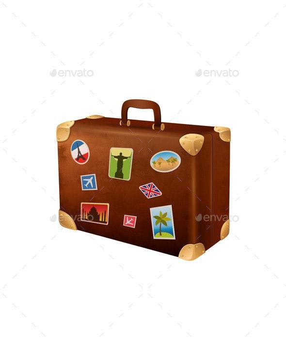 Suitcase Traveler - Objects Vectors